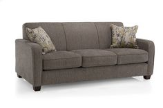 Décor Rest's clean lined hide a bed sofa is stylish for the living room and comfortable for over night guests. Sofa Bed Sleeper, Custom Sofa, Upholstered Sofa, Living Room Sofa, Sofas, Mid-century Modern, Love Seat, Family Room