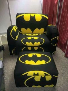 Batman chair and ottoman