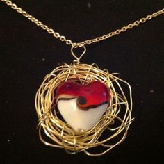 Wire Birds Nest Necklace