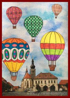 Horkovzdušný balón – koláž