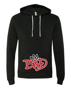 Michael Jackson King of Pop Inspired Bad Hooded-Pullover-9595 on Etsy, $39.99