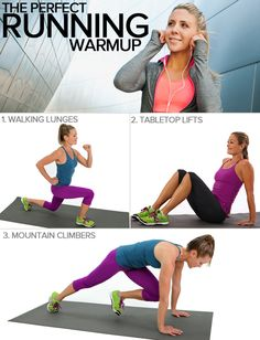 Baby, it's cold outside! So here are a few moves to get ready for your run before hitting the streets.