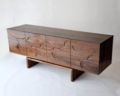 drooooool - Modern walnut 'Branch' Console. (handmade by Patrick Lajoie in Caledon, Ontario, Canada. (American Black Walnut timber)