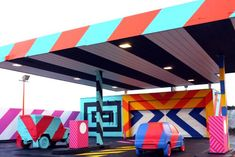 Graffiti artist Maser has transformed the site in Ireland into an interactive installation, inspired by artist Ed Ruscha.