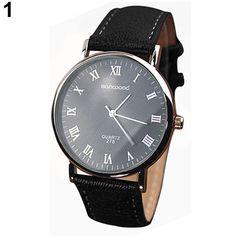 >> Click to Buy << Hot Sales 2015 hot Men's Roman Numerals Faux Leather Band Quartz Analog Business Wrist Watch 4DAU 6T5M #Affiliate