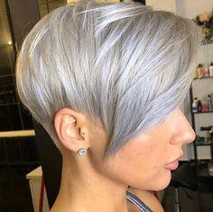 kurze Frisuren - 40 + neue Pixie Haircut-Ideen in 2018 - 2019 - . Pixie Haircut Styles, Pixie Bob Haircut, Pixie Bob Hairstyles, Short Pixie Haircuts, Bob Haircuts, Hairstyles Haircuts, Short Grey Hair, Short Hair Cuts, Short Hair Styles