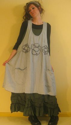 Flower Apron Jumper - JU01