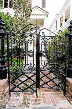 Metal gate.  South.