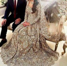 Beautiful bridal maxi in skin golden color❤️ For price & details : kindly inbox us Call or whatsAap : We deliver worldwide🌎 Pakistani Bridal Makeup Red, Pakistani Bridal Dresses Online, Asian Bridal Dresses, Pakistani Wedding Dresses, Indian Wedding Outfits, Pakistani Outfits, Indian Bridal, Indian Dresses, Pakistani Clothing