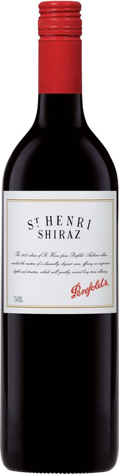 Penfolds 'St Henri' Shiraz 2012 An outstanding vintage, better than any in recent memory Great fruit concentration and flavour depth Rich and plush when young, gaining softer characters as it ages Wine Australia, Wines, Red Wine, Alcoholic Drinks, Plush, Characters, The Unit, Memories, Fruit