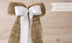 Antennenschleifen Schleife Autoschleife Anleitung Tutorial kostenlos schnell einfach günstig billig selber machen Geschenk DIY zur Hochzeit