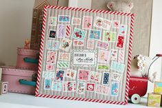 airmail mini quilt   Flickr - Photo Sharing!