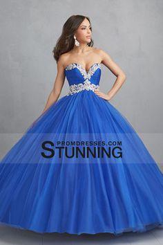 2015 Sweetheart Ball Gown Floor Length Quinceanera Dresses With Applique $189.99 SPPZ5B79Z9 - StunningPromDresses.com