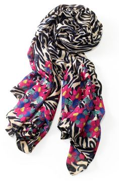 Luxembourg Scarf in Jeweled Zebra by Stella & Dot.  Shop at stelladot.com/patriciagraham!