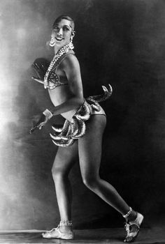 """Josephine Baker   Mover and Shaker   I improvised, crazed by the music....Even my teeth and eyes burned with fever. Each time I leaped I seemed to touch the sky and when I regained earth it seemed mine alone."""""""