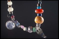 Viking age pearls, island of Gotland, Sweden. #vikingjewelry