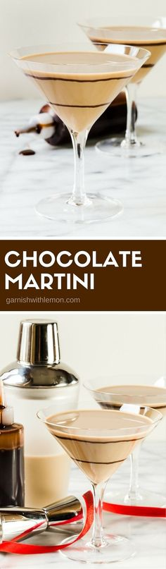 You can never go wrong when you mix a batch of this chocolate martini recipe. One sip and you will know why it's one of our most popular drinks! #chocolate #martinis #cocktails #vodka #drinks