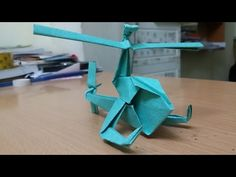 Origami - How to make a Paper Helicopter - YouTube