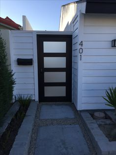 Custom Wood Gate by Garden Passages - Clean Modern Entry Gate with Frosted Glass Panels Inlayed Brick Fence, Concrete Fence, Front Yard Fence, Farm Fence, Bamboo Fence, Fenced In Yard, Horse Fence, Fence Stain, Cedar Fence