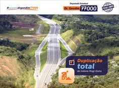 Desde quando foi inaugurada a duplicação da Mogi-Dutra até Mogi das Cruzes, em 2005, venho trabalhando junto ao governo do Estado para que a obra fosse colocada como prioridade. Em 2005, fui recebido pelo governador e um dos meus pedidos para o Alto Tietê foi a duplicação da Mogi-Dutra, no trecho da rodovia Ayrton Senna até Arujá. Agora, todos podem comemorar a duplicação total da rodovia.