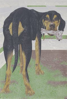 david alexander colville(1920-2013), dog with bone, 1961. colour serigraph, 76 x 53.5 cm. edition of 20. sotheby's