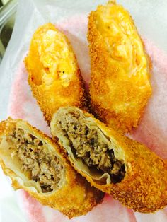 Steak & Cheese and Hot Wing Egg Rolls