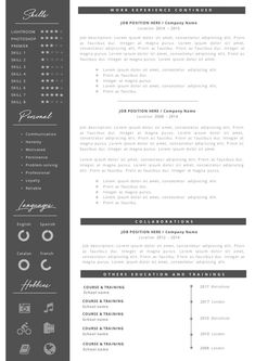 Creative professional Resume + Cover letter Template Editable for MS Word - Curriculum Vitae - English CV with Fonts included - Resume Cover Letter Template, Cv Template, Letter Templates, Resume Templates, Professional Resume, Company Names, Lorem Ipsum, Positivity, Lettering