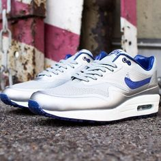 Nike Air Max 1 Hyperfuse Royal Blue Metallic Silver White