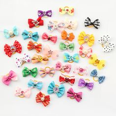 Armi store 20 Pcs Handmade Pet Grooming Accessories Products Dog Bow 6011026 Hair Little Flower Bows For Dogs Charms Gift * Visit the image link more details.