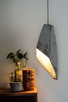 DIY Concrete Lamp, possibly either placed in small area of guest / master bedroom or in a relaxation room