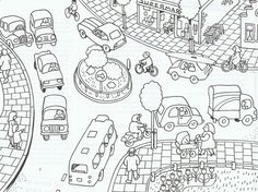 Verkeer Colouring Pages, Coloring Pages For Kids, Drawing Sketches, Drawings, Spanish Activities, Teaching Tools, Spinners Fidget, Art For Kids, Images