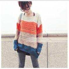love oversized knit sweaters!