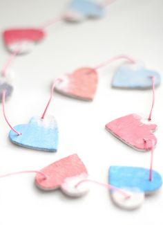 heart garland by cafe noHut, via Flickr