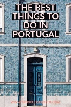20 Brilliant Things to do in Portugal The best of Portugal. Travel hotspots you shouldn't miss. From Lisbon to The Algarve and Porto - here are 20 amazing places in Portugal you have to visit on your next trip. Best Places In Portugal, Visit Portugal, Spain And Portugal, Europe Travel Tips, European Travel, Travel Guides, Travel Destinations, Travelling Tips, Traveling