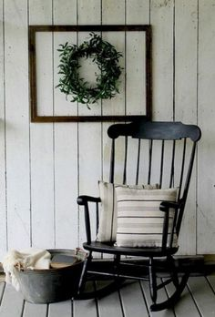 Get the Fixer Upper Look from Rust and Relics LLC with this Farmhouse Style Rocking Chair!rustandrelics… glider rocking chair canada G. Farmhouse Outdoor Chairs, Farmhouse Front Porches, Farmhouse Decor, Farmhouse Style, Modern Farmhouse, Cottage Style, Country Porches, Farmhouse Furniture, Modern Rustic