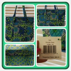 👜💚  NWT Vera Bradley Grand Tote  👜💚 Brand New Never Used Vera Bradley Grand Tote In Retired Rare Doodle Daisy Pattern. This Tote Is Beautiful There's So Much Space In It And Approximately 6 Interior Slip Pockets,  Exterior Zippered Pocket, Exterior Slip Pocket With A Keychain Attached Inside The Pocket. Excellent Condition. Retails For: $86 + S&H + Taxes 🚫 TRADES 🚫 PAYPAL 🚫 NO OFFERS ACCEPTED AT THIS TIME PRICE IS FINAL MARKDOWN 👜💚 Vera Bradley Bags Totes