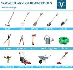 Gardening tools crossword puzzle esl worksheet teaching for Gardening tools crossword