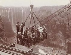 Building the Vic Falls Bridge Cheap Holiday, Victoria Falls, All Nature, Places Of Interest, Zimbabwe, Continents, Childhood Memories, Traveling By Yourself, The Past