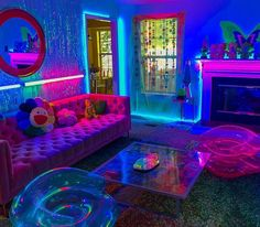 hippie bedroom decor 646125877778386087 - It's a cold night, but you would never know. Indie Room Decor, Cute Room Decor, Hippie Bedroom Decor, Neon Room Decor, Hippie Bedrooms, Boho Decor, Neon Bedroom, Room Ideas Bedroom, Dope Rooms
