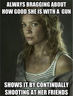 "Thanks for killing Dale, Andrea! | Andrea From ""The Walking Dead"" Summed Up In 31 Pictures"