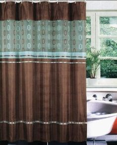 Brown Shower Curtains On Pinterest Shower Curtains Blue