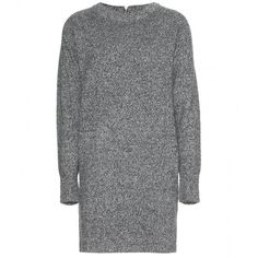 Wood Wood Rosa Sweater Dress ($120) ❤ liked on Polyvore featuring dresses, sweaters, tops, grey, gray wool dress, grey sweater dress, wood wood, sweater dresses and wool dresses