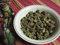 Fried Okra Recipe Side Dishes with okra, salt, pepper, cornmeal, vegetable oil