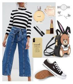 """""""Untitled #311"""" by glissy23 on Polyvore featuring Moschino, FOSSIL, Myia Bonner, Tom Ford, Forever 21 and Chanel"""