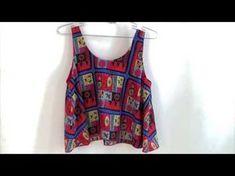 DIY Tutorial Blusa Crop-Top mini (patrones gratis) - YouTube
