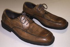 Gordon Rush Men's Size 13 Brown Genuine Leather Shoes Pre-Owned Mens Oxford Shoe #GordonRush #Oxfords