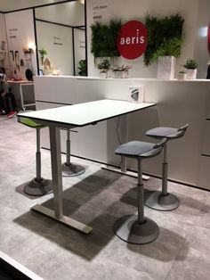 Aeris Muvman illustrates the benefits of sit-PERCH-stand Conference Room, Table, Furniture, Home Decor, Decoration Home, Room Decor, Tables, Home Furnishings, Home Interior Design
