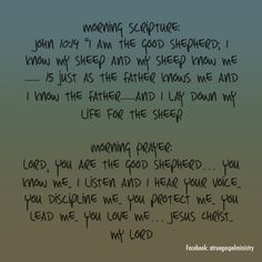 """Morning Scripture: John 10:14 """"I am the good shepherd; I know my sheep and my sheep know me—  Morning Prayer: Lord, You are the good shepherd… You know me.. I listen and I hear Your voice.. You discipline me.. You protect me.. You lead me.. You love me… Jesus Christ.. my Lord… #christmas #savior #morningprayer #morningscripture #scripturequote #biblequote #instabible #instaquote #quote #seekgod #godsword #godislove #gospel #jesus #jesussaves #preach #testify #rollin4Christ…"""