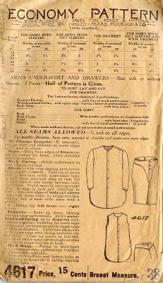 Unsung Sewing Patterns: Economy 4617 - Men's Undershirt and Drawers
