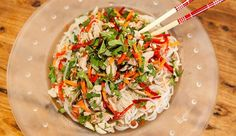 Asian Chicken Noodle Salad - Good Chef Bad Chef